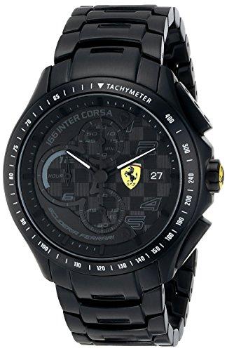 フェラーリ 時計 メンズ 腕時計 グッズ Ferrari Men's 0830087 Race Day Analog Display Quartz Black Watch フェラーリ 時計 メンズ 腕時計 グッズ Ferrari Men's 0830087 Race Day Analog Display Quartz Black Watch