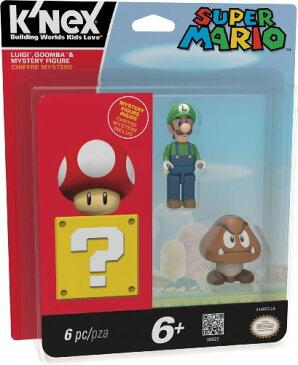 ケネックス ブロック おもちゃ フィギュア ニンテンドー スーパーマリオ ルイージ クリボー K'nex Super Mario-Luigi, Goomba and Mystery Figure
