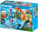 プレイモービル 4858 すべり台プール ウォータースライダー Playmobil 4858 Open Air Pool with Slide