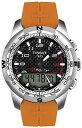 ティソ 腕時計 メンズ 時計 Tissot Men's T0474204720701 TTouch II Black Digital Multi Function Watch