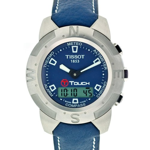 ティソ 腕時計 メンズ 時計 Tissot Men's T33153841 T-Touch Steel Ana-Digi Multi-Function Blue Watch ティソ 腕時計 メンズ 時計 Tissot Men's T33153841 T-Touch Steel Ana-Digi Multi-Function Blue Watch