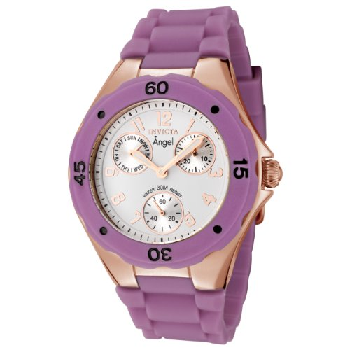 インヴィクタ インビクタ 腕時計 レディース 時計 Invicta Women's 0714 Angel Collection Rose Gold-Plated Purple Polyurethane Watch インヴィクタ インビクタ 腕時計 レディース 時計 Invicta Women's 0714 Angel Collection Rose Gold-Plated Purple Polyurethane Watch