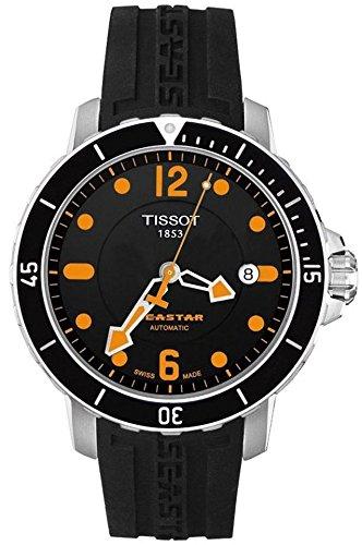 ティソ 腕時計 メンズ 時計 Tissot Men's T0664071705701 SeaStar Black Automatic Dial Watch ティソ 腕時計 メンズ 時計 Tissot Men's T0664071705701 SeaStar Black Automatic Dial Watch