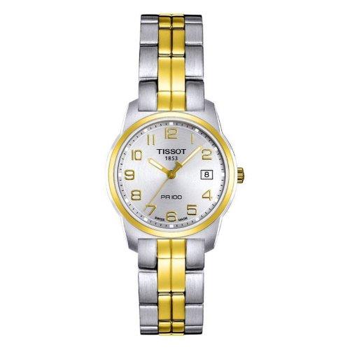 ティソ 腕時計 レディース 時計 Tissot Women's T0492102203200 PR 100 Two-Tone Silver Dial Watch ティソ 腕時計 レディース 時計 Tissot Women's T0492102203200 PR 100 Two-Tone Silver Dial Watch【カシオ 1000 円 腕時計】