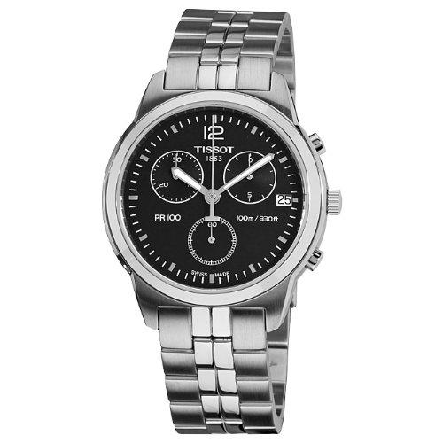 ティソ 腕時計 メンズ 時計 Tissot Men's T0494171105700 PR 100 Black Chronograph Dial Watch ティソ 腕時計 メンズ 時計 Tissot Men's T0494171105700 PR 100 Black Chronograph Dial Watch