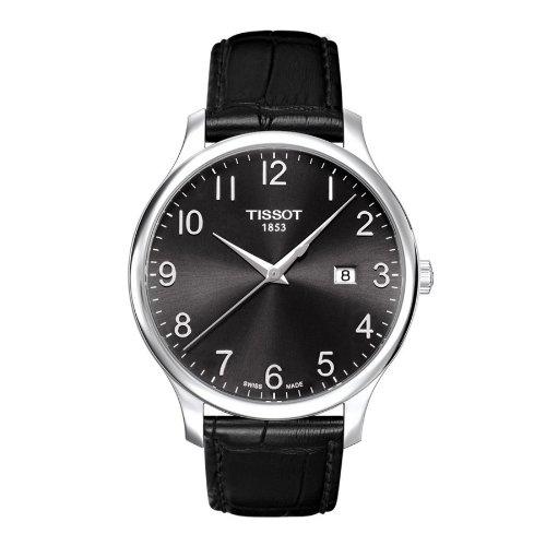 ティソ 腕時計 メンズ 時計 Tissot Tradiiton Leather Black Dial Men's watch #T063.610.16.052.00 ティソ 腕時計 メンズ 時計 Tissot Tradiiton Leather Black Dial Men's watch #T063.610.16.052.00