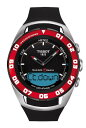 ティソ 腕時計 メンズ 時計 Men Tissot T0564202705100 T-Touch Red Bezel Sailing-Touch T-Touch Black Analog D