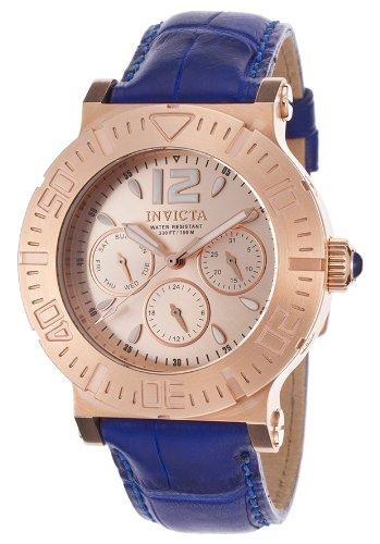 インヴィクタ インビクタ 腕時計 メンズ 時計 Invicta Specialty Multi-Function Rose Dial Blue Leather Mens Watch インヴィクタ インビクタ 腕時計 メンズ 時計 Invicta Specialty Multi-Function Rose Dial Blue Leather Mens Watch
