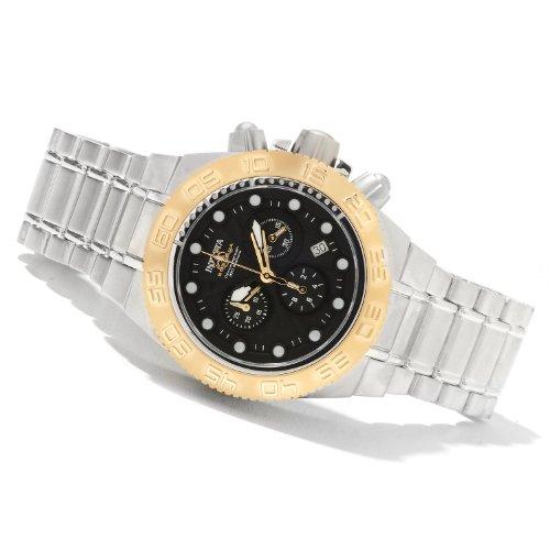 インヴィクタ インビクタ 腕時計 Invicta Midsize Subaqua Sport Swiss Chronograph Black Dial Gold Tone Bezel Bracelet Watch 10852 インヴィクタ インビクタ 腕時計 Invicta Midsize Subaqua Sport Swiss Chronograph Black Dial Gold Tone Bezel Bracelet Watch 10852