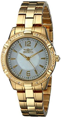 """インヴィクタ インビクタ 腕時計 レディース 時計 Invicta Women's 18034 """"Angel"""" Diamond-Accented 18k Gold Ion-Plated Stainless Steel Watch インヴィクタ インビクタ 腕時計 レディース 時計 Invicta Women's 18034 """"Angel"""" Diamond-Accented 18k Gold Ion-Plated Stainless Steel Watch"""