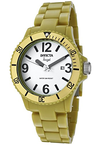 インヴィクタ インビクタ 腕時計 レディース 時計 Invicta Women's 1214 Angel White Dial Green Plastic Watch インヴィクタ インビクタ 腕時計 レディース 時計 Invicta Women's 1214 Angel White Dial Green Plastic Watch