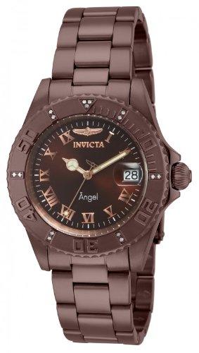 インヴィクタ インビクタ 腕時計 レディース 時計 Invicta Womens Angel Diver Swiss Quartz Diamond Accented Brown IP Stainless Steel Watch 14721 インヴィクタ インビクタ 腕時計 レディース 時計 Invicta Womens Angel Diver Watch 14721