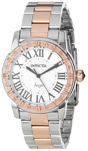 インヴィクタ インビクタ 腕時計 レディース 時計 Invicta Women's 14377 Angel Silver Dial Diamond-Accented Two-Tone Stainless Steel Watch インヴィクタ インビクタ 腕時計 レディース 時計 Invicta Women's 14377 Angel Silver Dial Diamond-Accented Two-Tone Stainless Steel Watch