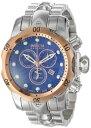 インビクタ 時計 インヴィクタ メンズ 腕時計 Invicta Men's 10793 Venom Reserve Chronograph Blue Textured Dial Stainless Steel Watch