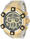 インビクタ 時計 インヴィクタ メンズ 腕時計 Invicta Men's 0337 Arsenal Chronograph Black Dial Two Tone Stainless Steel Watch