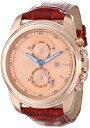インビクタ 時計 インヴィクタ メンズ 腕時計 Invicta Men's 15125 Specialty Rose Gold Tone Dial Brown Leather Band Watch