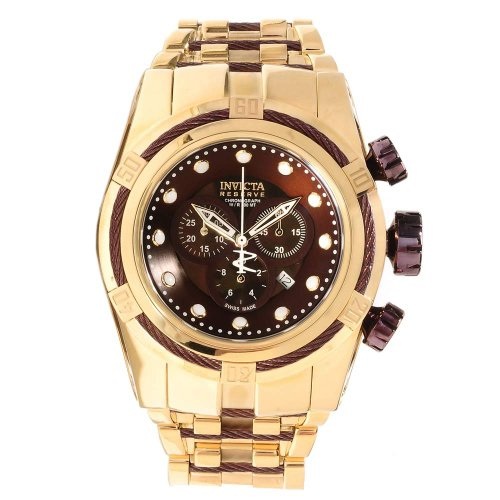 インビクタ 時計 インヴィクタ メンズ 腕時計 Invicta Bolt Reserve Chronograph Brown Dial Gold Ion-plated Mens Watch 12755 インビクタ 時計 インヴィクタ メンズ 腕時計 Invicta Bolt Reserve Chronograph Brown Dial Gold Ion-plated Mens Watch 12755