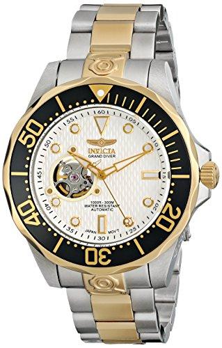 インビクタ 時計 インヴィクタ メンズ 腕時計 Invicta Men's 13704 Grand Diver Automatic White Textured Dial Two Tone Stainless Steel Watch インビクタ 時計 インヴィクタ メンズ 腕時計 Invicta Men's 13704 Grand Diver Automatic White Textured Dial Two Tone Stainless Steel Watch