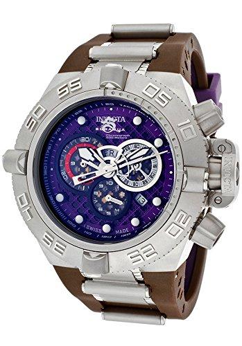 インビクタ 時計 インヴィクタ メンズ 腕時計 Invicta Men's 10978 Subaqua Noma IV Chronograph Purple Cut-Out Dial Brown and Purple Polyurethane Watch インビクタ 時計 インヴィクタ メンズ 腕時計 Invicta Men's 10978 Subaqua Noma IV Chronograph Watch