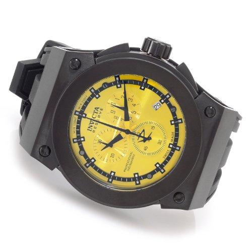 インビクタ 時計 インヴィクタ メンズ 腕時計 Invicta Men's 80772 Akula Reserve Swiss Chronograph Yellow Dial Stainless Steel Black Silicon Strap Watch インビクタ 時計 インヴィクタ メンズ 腕時計 Invicta Men's 80772 Akula Reserve Swiss Chronograph Yellow Dial Watch
