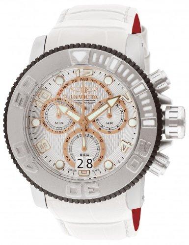 インビクタ 時計 インヴィクタ メンズ 腕時計 フリースタイル Invicta Men's ティソ 12179 Sea オリエント Hunter Swiss Chronograph White Leather Watch:i-selection インビクタ 時計 インヴィクタ メンズ 腕時計 Invicta Men's 12179 Sea Hunter Swiss Chronograph White Leather Watch