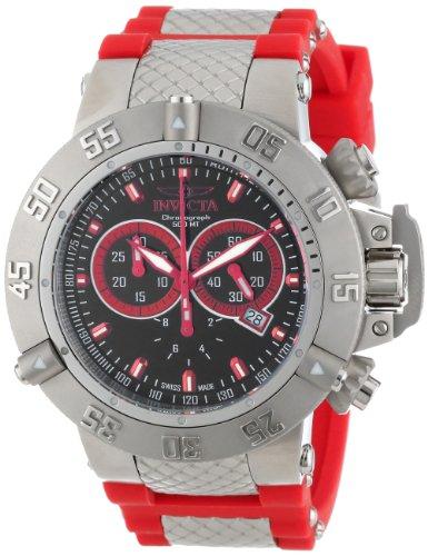 インビクタ 時計 インヴィクタ メンズ 腕時計 Invicta Men's 13999 Subaqua Chronograph Black Enamel Dial Red Silicone Watch インビクタ 時計 インヴィクタ メンズ 腕時計 Invicta Men's 13999 Subaqua Chronograph Black Enamel Dial Red Silicone Watch