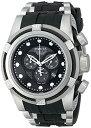 インビクタ 時計 インヴィクタ メンズ 腕時計 Invicta Men's 12665 Bolt Chronograph Black Carbon Fiber Dial Black Polyurethane Watch
