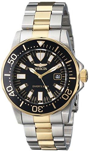 """インビクタ 時計 インヴィクタ メンズ 腕時計 Invicta Men's 15030SYB """"Pro Diver"""" Stainless Steel and 18k Gold Ion-Plated Watch インビクタ 時計 インヴィクタ メンズ 腕時計 Invicta Men's 15030SYB """"Pro Diver"""" Stainless Steel and 18k Gold Ion-Plated Watch"""