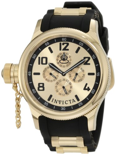インビクタ 時計 インヴィクタ メンズ 腕時計 Invicta Men's 1803 Russian Diver Gold Dial Black Polyurethane Watch インビクタ 時計 インヴィクタ メンズ 腕時計 Invicta Men's 1803 Russian Diver Gold Dial Black Polyurethane Watch