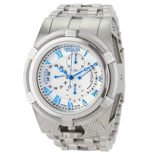 インビクタ 時計 インヴィクタ メンズ 腕時計 Invicta Men's 12670 Bolt Reserve Chronograph Silver Textured Dial Stainless Steel Watch インビクタ 時計 インヴィクタ メンズ 腕時計 Invicta Men's 12670 Bolt Reserve Chronograph Silver Textured Dial Stainless Steel Watch