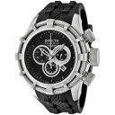 インビクタ 時計 インヴィクタ メンズ 腕時計 Invicta Men's 1222 Reserve Chronograph Black Dial Black Polyurethane Watch