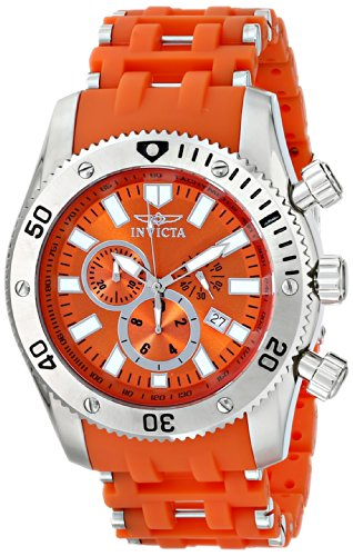 "インビクタ 時計 インヴィクタ メンズ 腕時計 Invicta Men's 0139 ""Sea Spider Collection"" Stainless Steel and Orange Polyurethane Watch インビクタ 時計 インヴィクタ メンズ 腕時計 Invicta Men's 0139 ""Sea Spider Collection"" Stainless Steel and Orange Polyurethane Watch"