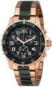 手錶 - インビクタ 時計 インヴィクタ メンズ 腕時計 Invicta Men's 1327 18k Rose Gold Ion-Plated Stainless Steel and Black Dial Watch