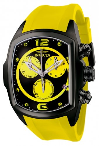 インビクタ 時計 インヴィクタ メンズ 腕時計 Invicta Men's 6726 Lupah Collection Chronograph Black Ion-Plated Yellow Rubber Watch インビクタ 時計 インヴィクタ メンズ 腕時計 Invicta Men's 6726 Lupah Collection Chronograph Black Ion-Plated Yellow Rubber Watch
