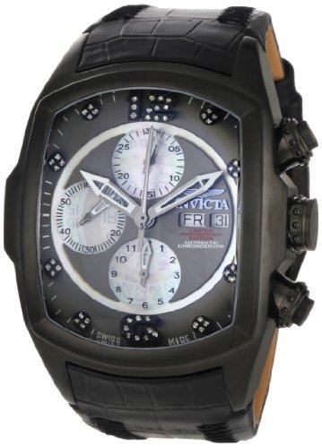 インビクタ 時計 インヴィクタ メンズ 腕時計 Invicta Men's 0513 Lupah Revolution Automatic Chronograph Diamond Accented Black Leather Watch インビクタ 時計 インヴィクタ メンズ 腕時計 Invicta Men's 0513 Lupah Revolution Automatic Chronograph Diamond Accented Black Leather Watch