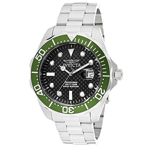 インビクタ 時計 インヴィクタ メンズ 腕時計 Invicta Men's 12564 Pro Diver Black Carbon Fiber Dial Stainless Steel Watch with Grey/Green Impact Case インビクタ 時計 インヴィクタ メンズ 腕時計 Invicta Men's 12564 Pro Diver Black Carbon Fiber Dial Stainless Steel Watchうまい(うまい)