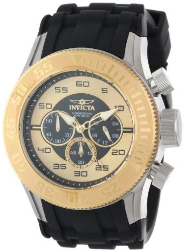 インビクタ 時計 インヴィクタ メンズ 腕時計 Invicta Men's 14978 Pro Diver Chronograph Black Gold Dial Black Silicone Watch インビクタ 時計 インヴィクタ メンズ 腕時計 Invicta Men's 14978 Pro Diver Chronograph Black Gold Dial Black Silicone Watch
