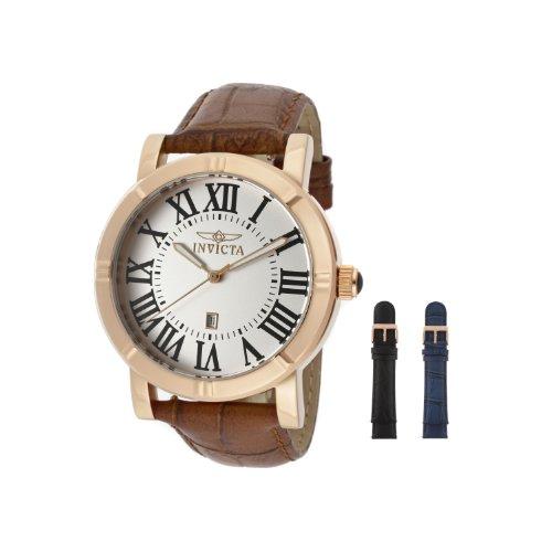 インビクタ 時計 インヴィクタ メンズ 腕時計 Invicta Men's 13972 Specialty Watch Set Silver Dial Brown Leather Watch with 2 Additional Straps インビクタ 時計 インヴィクタ メンズ 腕時計 Invicta Men's 13972 Specialty Watch Set Silver Dial Brown Leather Watch with 2 Additional Straps【腕時計 レディース 電波 時計】