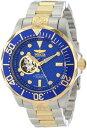 インビクタ 時計 インヴィクタ メンズ 腕時計 Invicta Men's 13706 Grand Diver Automatic Blue Textured Dial Two Tone Stainless Steel Watch
