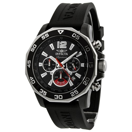 インビクタ 時計 インヴィクタ メンズ 腕時計 Invicta Signature II Chronograph Nautical Black Dial Black Rubber Mens Watch 7433 インビクタ 時計 インヴィクタ メンズ 腕時計 Invicta Signature II Chronograph Nautical Black Dial Black Rubber Mens Watch 7433