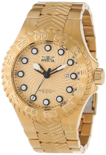 インビクタ 時計 インヴィクタ メンズ 腕時計 Invicta Men's 12922 Pro Diver Automatic Gold Textured Dial 18k Gold Ion-Plated Stainless Steel Watch インビクタ 時計 インヴィクタ メンズ 腕時計 Invicta Men's 12922 Pro Diver Automatic Gold Textured Dial 18k Gold Ion-Plated Watch