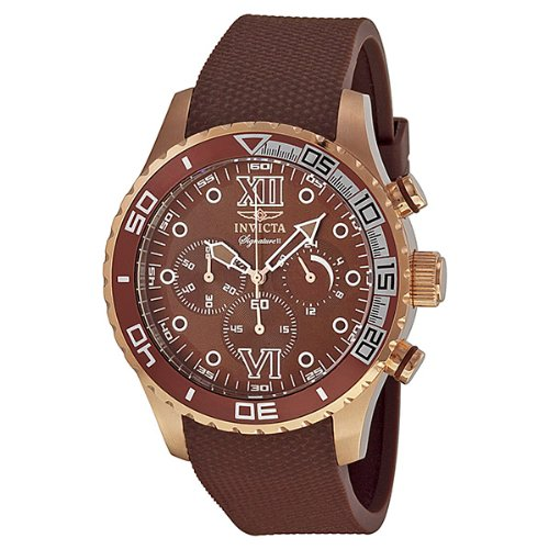 インビクタ 時計 インヴィクタ メンズ 腕時計 Invicta Signature II Chronograph Brown Dial Brown Polyurethane Mens Watch 7505 インビクタ 時計 インヴィクタ メンズ 腕時計 Invicta Signature II Chronograph Brown Dial Brown Polyurethane Mens Watch 7505