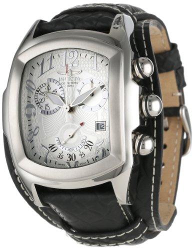 インビクタ 時計 インヴィクタ メンズ 腕時計 Invicta Men's 11327 Lupah Chronograph Silver Tone Textured Dial Black Leather Watch インビクタ 時計 インヴィクタ メンズ 腕時計 Invicta Men's 11327 Lupah Chronograph Silver Tone Textured Dial Black Leather Watch