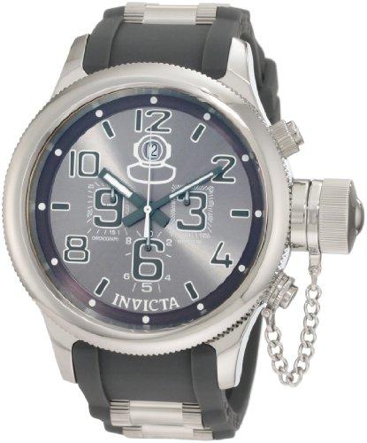 インビクタ 時計 インヴィクタ メンズ 腕時計 Invicta Men's 1350 Russian Diver Chronograph Grey Dial Grey Polyurethane Watch インビクタ 時計 インヴィクタ メンズ 腕時計 Invicta Men's 1350 Russian Diver Chronograph Grey Dial Grey Polyurethane Watch