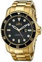インビクタ 時計 インヴィクタ メンズ 腕時計 Invicta Men's 15351 Pro Diver Analog Display Japanese Quartz Gold Watch