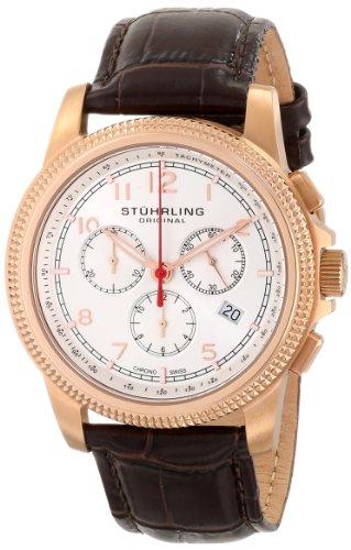 ステューリング オリジナル 腕時計 メンズ 時計 Stuhrling Original Men's 717.04 Octane Targa Courant Analog Display Swiss Quartz Brown Watch ステューリング オリジナル 腕時計 メンズ 時計 Stuhrling Original Men's 717.04 Octane Targa Courant Analog Display Swiss Quartz Brown Watch