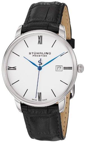"""ステューリング プレステージ 腕時計 メンズ 時計 Stuhrling Prestige Men's 307L.33152 """"Kingston"""" Stainless Steel Watch with Black Leather Strap ステューリング プレステージ 腕時計 メンズ 時計 Stuhrling Prestige Men's 307L.33152 """"Kingston"""" Watch"""