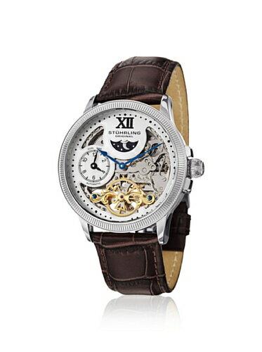 ステューリング オリジナル 腕時計 メンズ 時計 Stuhrling Original Men's 470.3315k2 Dt Bridge Date Leather Watch ステューリング オリジナル 腕時計 メンズ 時計 Stuhrling Original Men's 470.3315k2 Dt Bridge Date Leather Watch
