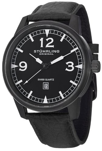 ステューリング オリジナル 腕時計 メンズ 時計 Stuhrling Original Men's 1129Q.04 Tuskegee Condor Swiss Quartz Date Black Watch ステューリング オリジナル 腕時計 メンズ 時計 Stuhrling Original Men's 1129Q.04 Tuskegee Condor Swiss Quartz Date Black Watch