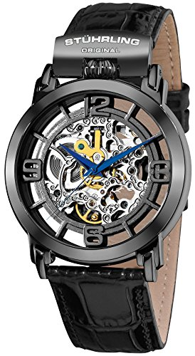 ステューリング オリジナル 腕時計 メンズ 時計 Stuhrling Original Men's 165F.33551 Winchester General Automatic Skeleton Black Watch ステューリング オリジナル 腕時計 メンズ 時計 Stuhrling Original Men's 165F.33551 Winchester General Automatic Skeleton Black Watch